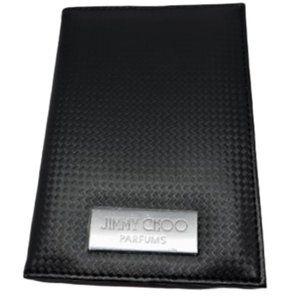 Jimmy Choo Passport Holder Cover Wallet Black
